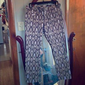 Gap animal print cropped dress pants